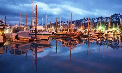 Alaska - Seward, harbour, cruisetour
